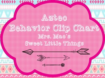 Aztec/Tribal Behavior Clip Chart