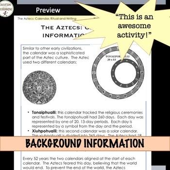 Aztecs Calendar, Writing and Ritual Station Activities for MesoAmerica Unit