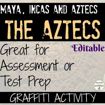 Aztecs Activity Graffiti one pager EDITABLE