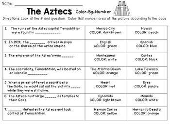 Aztec Color-By-Number