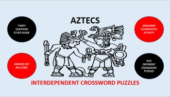 Aztecs: Interdependent Crossword Puzzles Activity