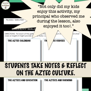 Aztecs Gallery Walk Activity for an Introduction to the Aztec Civilization