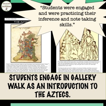 Aztecs Gallery Walk Activity as an Introduction to the Aztec Civilization UPDATE