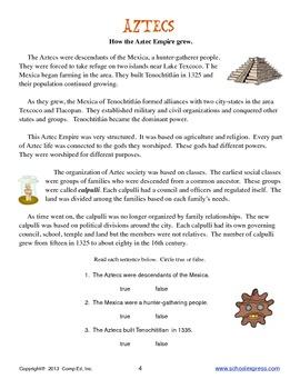 Aztecs Thematic Unit