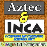 Aztecs and Incas Scavenger Hunt: Compare & Contrast the Aztec and Inca!