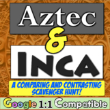 Aztecs and Incas Scavenger Hunt: Compare & Contrast the Aztec and Inca!