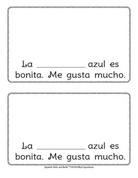Azul es bonito:A beginning Spanish workbook/reader(articles, noun/adj agreement)