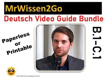 High Level  Deutsch / German Authentic Listening Video Guide BUNDLE