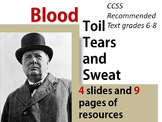 Blood, Toil, Tears, and Sweat FULL SPEECH AND RESOURCES
