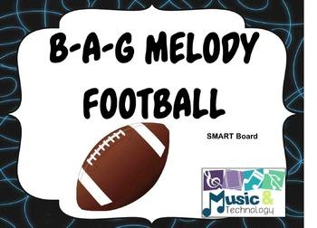 B-A-G Melody Football SMART Board Lesson