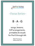 B-A-G: Songs, Lessons & Printables