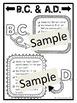 B.C. & A.D. Activities (Chronology/Timeline Practice)