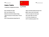 B.C./A.D. Timeline Worksheet