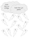B, D, P, Q Confusion Worksheets
