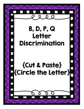 B, D, P, Q {Letter Discrimination Packet}