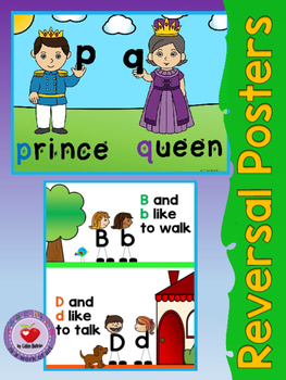 Reversal Letter Posters (B,D,P,Q)