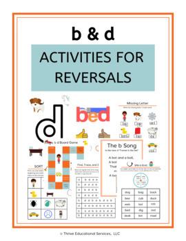 B & D Reversal Activities - Orton Gillingham Dyslexia Intervention