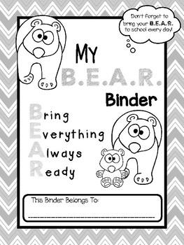 B.E.A.R. Folder Binder Cover