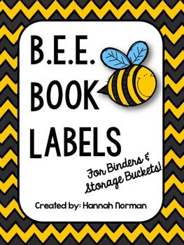 B.E.E. Book Labels