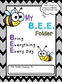 **EDITABLE** B.E.E. Folder Binder Cover