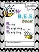 **EDITABLE** B.E.E. Folder Binder Cover