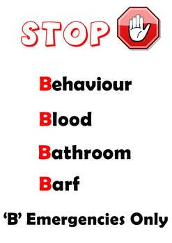 B Emergencies- Stop interruptions