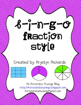 B-I-N-G-O Fraction Style