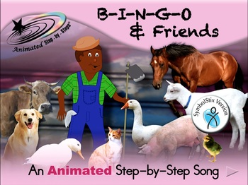 B-I-N-G-O & Friends - Animated Step-by-Step Song - SymbolStix