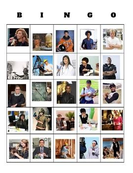 B.I.N.G.O. Game - Profesiones y trabajos (Professions and jobs)