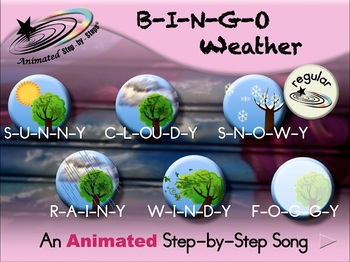 B-I-N-G-O Weather - Animated Step-by-Step Song - Regular