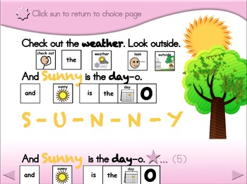 B-I-N-G-O Weather - Animated Step-by-Step Song - SymbolStix