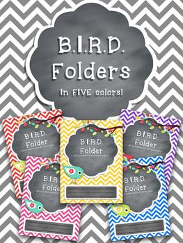 B.I.R.D. Folder **EDITABLE** Pack