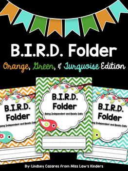 B.I.R.D. Folder: Orange, Green, & Turquoise Edition {Editable)