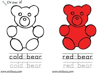 """B Is For Bear"" emergent reader and coloring pages"