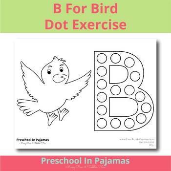 B Is For Bird Do A Dot Sheet
