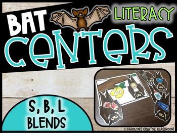 B, L, R Blends - Bat Blends Literacy Center (b blends, l blends, r blends)