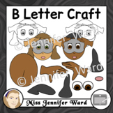 B Letter Craft Template Clipart