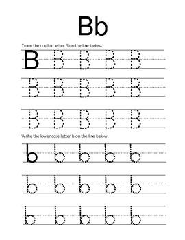 B Letter worksheets