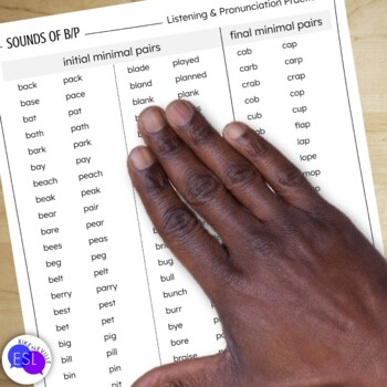 B P Pronunciation / Phonics for ESL Adults