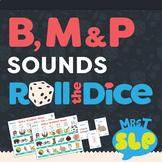 Speech Therapy Roll the Dice Games: B, P, and M Sounds