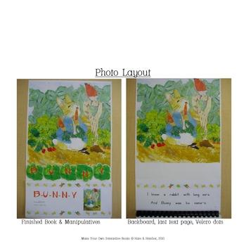 B-U-N-N-Y (Bingo tune) Interactive Book, Printable in Full Color!