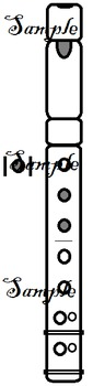 B&W + Coloured Recorder Fingering Graphics Set 1bc - Diatonic C to D'