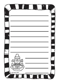 B&W Crayon Worksheets