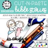 B&W Cut and Paste Bible Stories Set 11