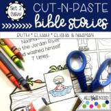 B&W Cut-n-Paste Bible Stories Set 2