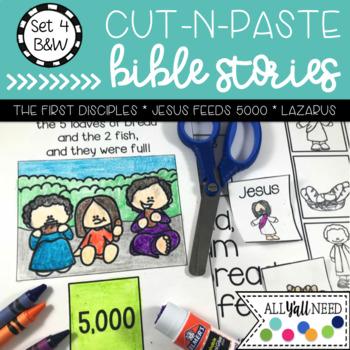 B&W Cut and Paste Bible Stories Set 4