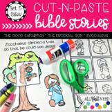 B&W Cut-n-Paste Bible Stories Set 5