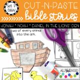 B&W Cut and Paste Bible Stories Set 7