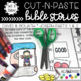 B&W Cut and Paste Bible Stories Set 8