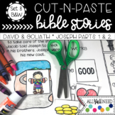 B&W Cut and Paste Bible Stories Set 8